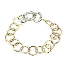 Pomellato Lucciole 18K Yellow, White & Rose Gold Diamond Circle Link Bracelet