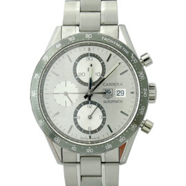 Tag Heuer Carrera CV2011 Stainless Steel Grey Dial 44mm Mens Watch