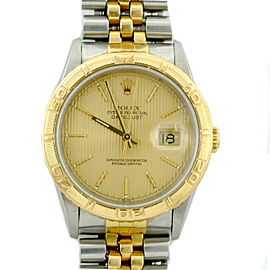 Rolex Datejust 16263 18K Yellow Gold Stainless Steel 36mm Unisex Watch