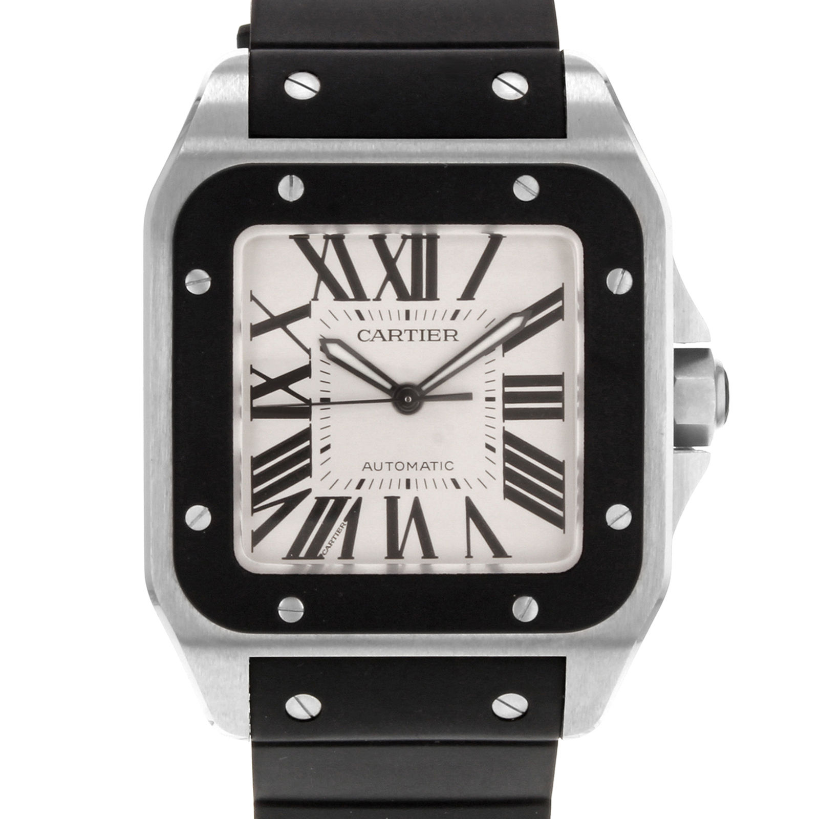 """Image of """"Cartier Santos W20121U2 Stainless Steel Automatic 39mm Mens Watch"""""""