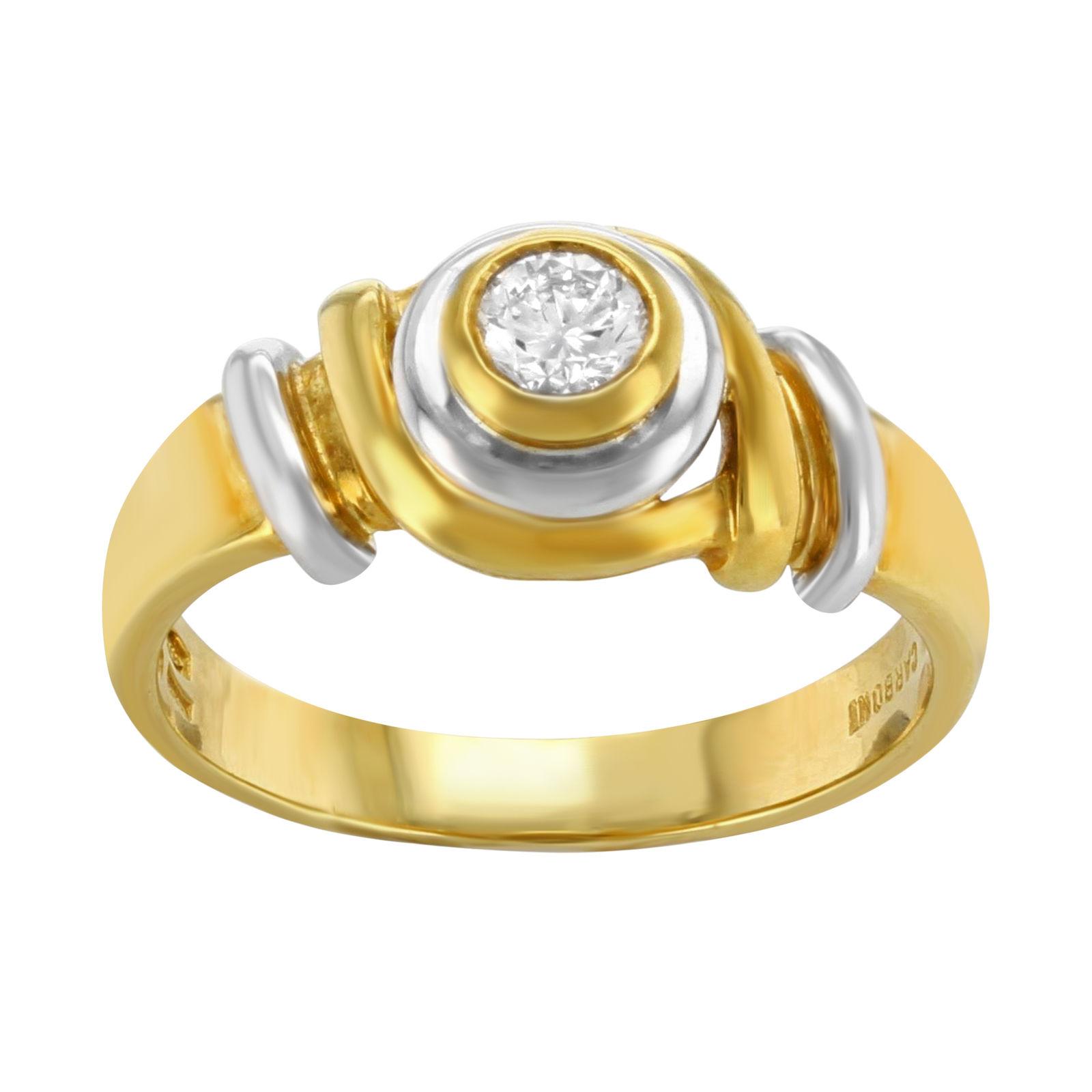 "Image of ""Salvini 18K Yellow & White Gold 0.19ct Diamond Ring Size 8.0"""