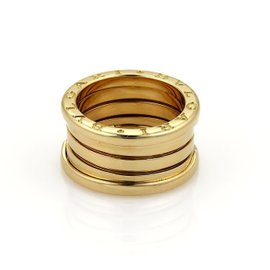 Bulgari B Zero-1 18K Yellow Gold Band Ring Size 3.5