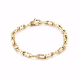 Cartier Spartacus 18K Yellow Gold Oval Link Chain Bracelet Size 8