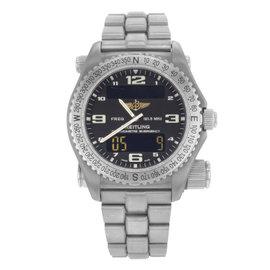 Breitling E76321 Titanium Quartz 43mm Mens Watch
