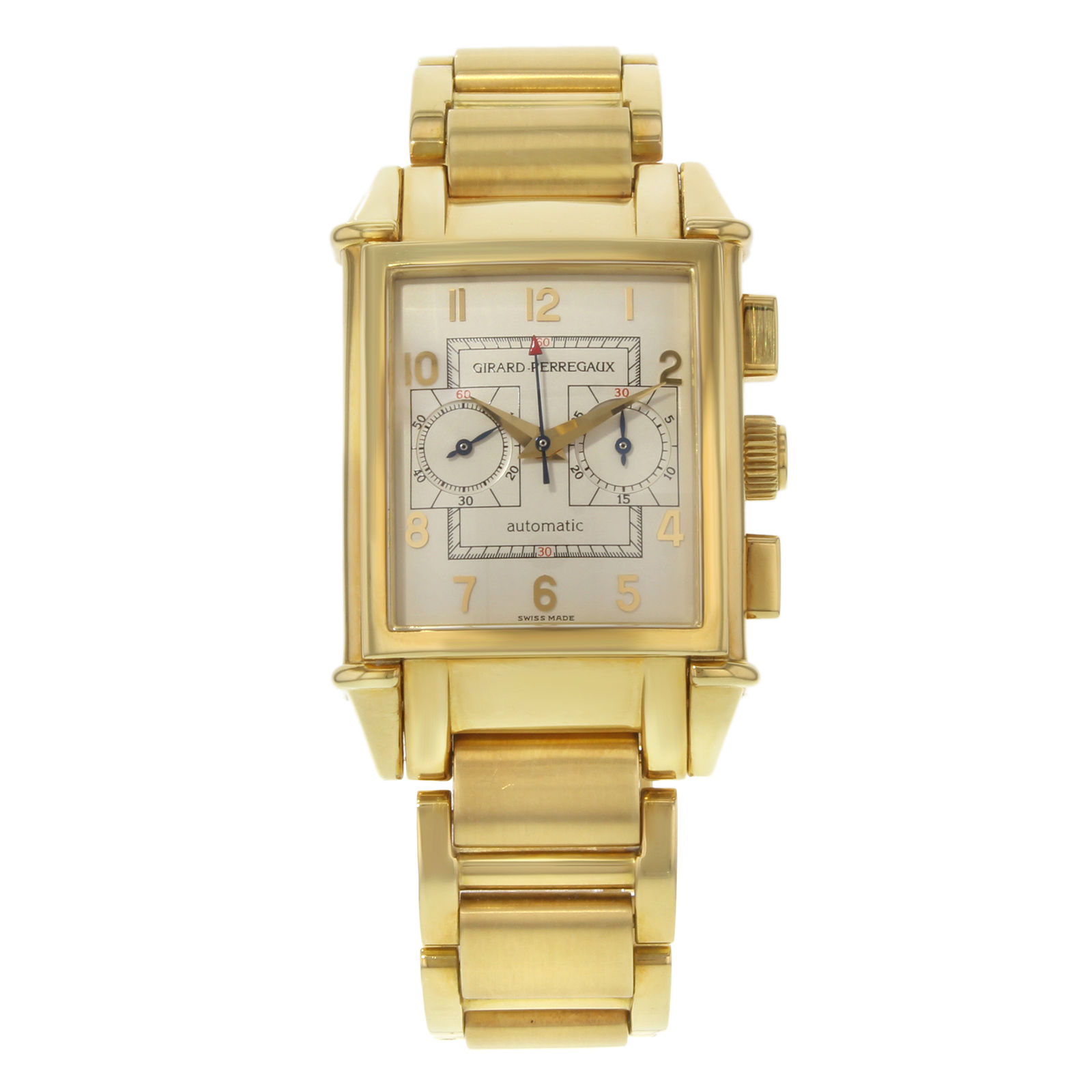 "Image of ""Girard-Perregaux 2599 18K Yellow Gold Silver Dial Automatic Vintage"""