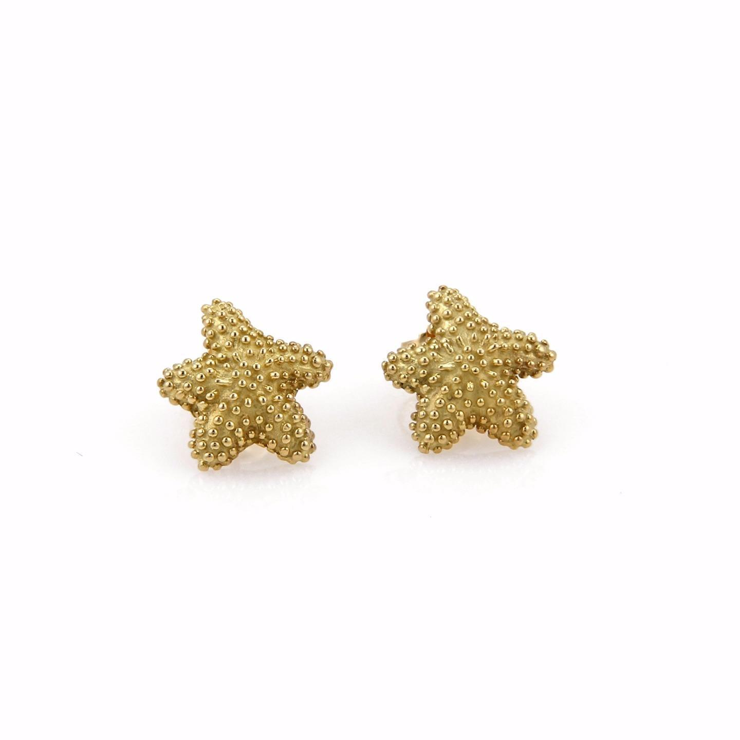 "Image of ""Tiffany & Co. Classic 18K Yellow Gold Small Starfish Stud Earrings"""