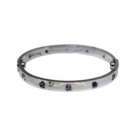 Cartier Love 18K White Gold & Gemstones Bracelet 17