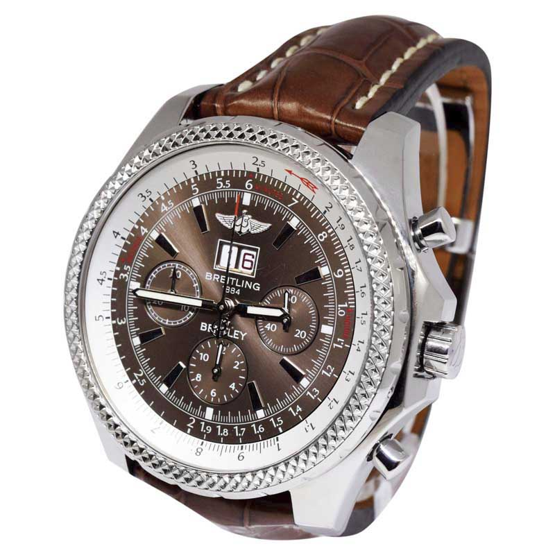 "Image of ""Breitling Bentley 6.75 A44362 Stainless Steel & Bronze Havana Dial"""