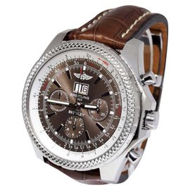Breitling Bentley 6.75 A44362 Stainless Steel & Bronze Havana Dial 48.7mm Mens Watch