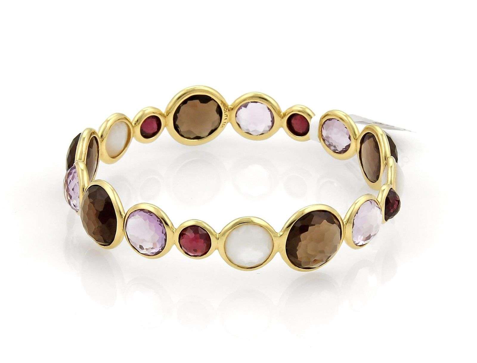 "Image of ""Ippolita Rock Candy 18K Yellow Gold with Multi Stone Bangle Bracelet"""