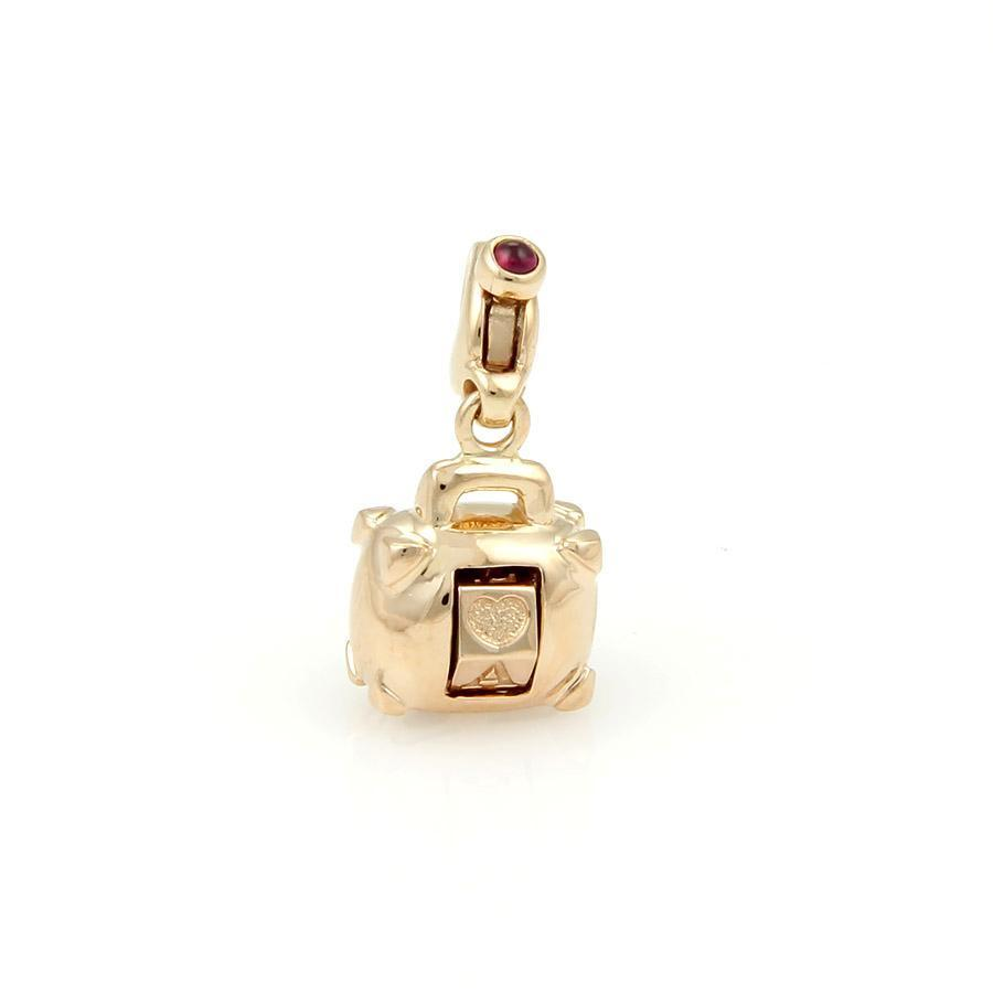 "Image of ""Pasquale Bruni 18K Rose Gold Amore Diamond Handbag Purse Charm Pendant"""