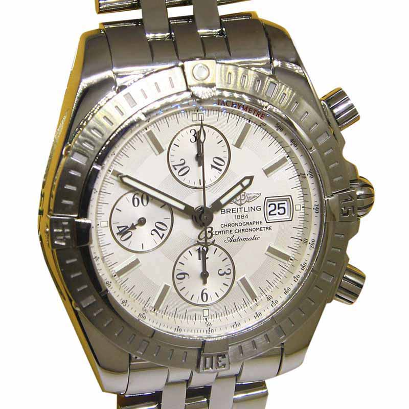 """Image of """"Breitling Chronomat Evolution A13356 Stainless Steel & Silver Dial"""""""