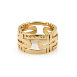 Bulgari Parentesi 18K Yellow Gold Open Band Ring Size 7.5