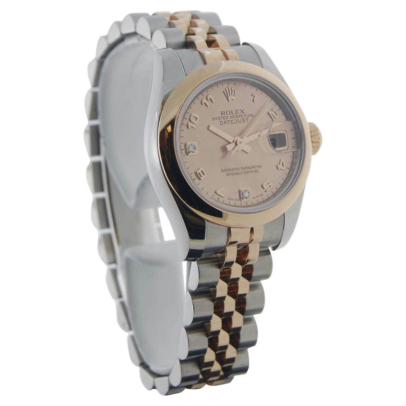 "Image of ""Rolex Datejust 179161 18K Pink Gold & Stainless Steel Automatic 26mm"""