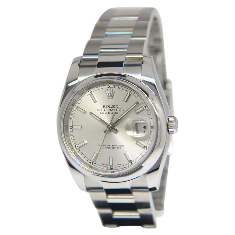 """Image of """"Rolex Datejust 116200 Stainless Steel with Silver Dial Automatic 36mm"""""""