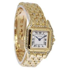 Cartier Panthere 8057915 18K Yellow Gold wDiamond Quartz 22mm Women's Watch