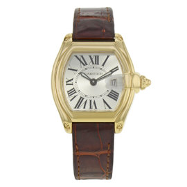 Cartier Roadster W62018Y5 18K Yellow Gold and Leather Quartz 31mm Womens Watch