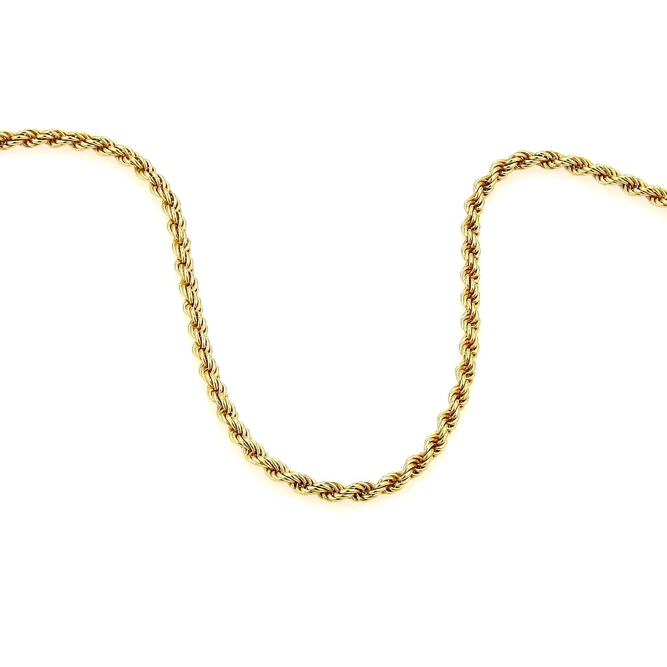 """Image of """"Chopard 18K Yellow Gold Rope Chain Necklace"""""""