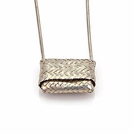 Tiffany & Co. 925 Sterling Silver Basket Pendant Necklace