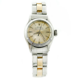 Rolex Serpico Y Laino 6623 Stainless Steel & 14K Yellow Gold Vintage 25mm Womens Watch