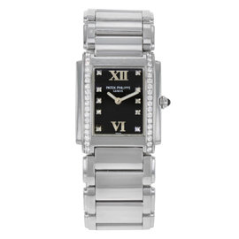 Patek Philippe Twenty-4 4910/10A-001 Stainless Steel with 0.45ct Diamonds Quartz 25mm Womens Watch