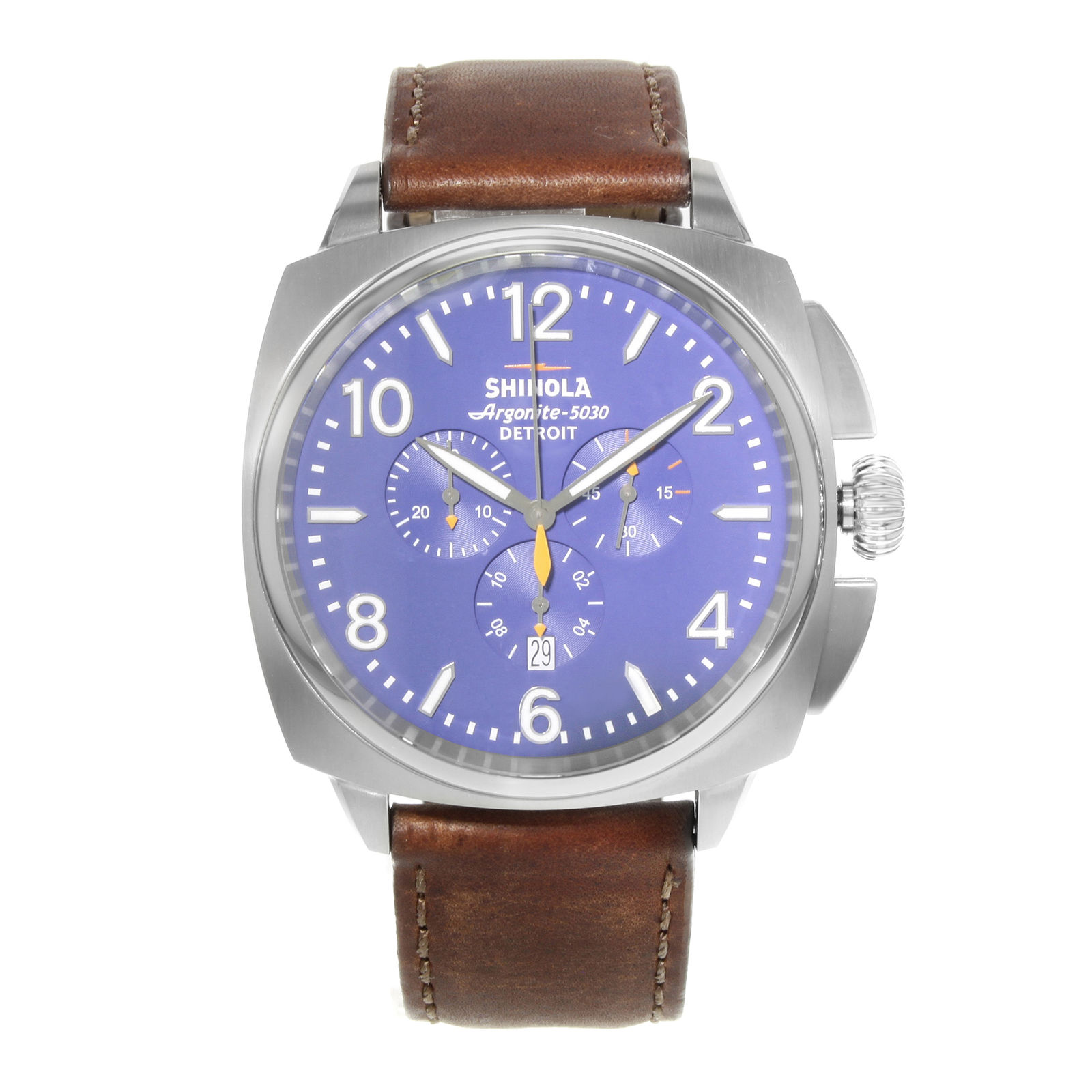 "Image of ""Shinola The Brakeman S0100000122 Stainless Steel Quartz 46mm Mens"""