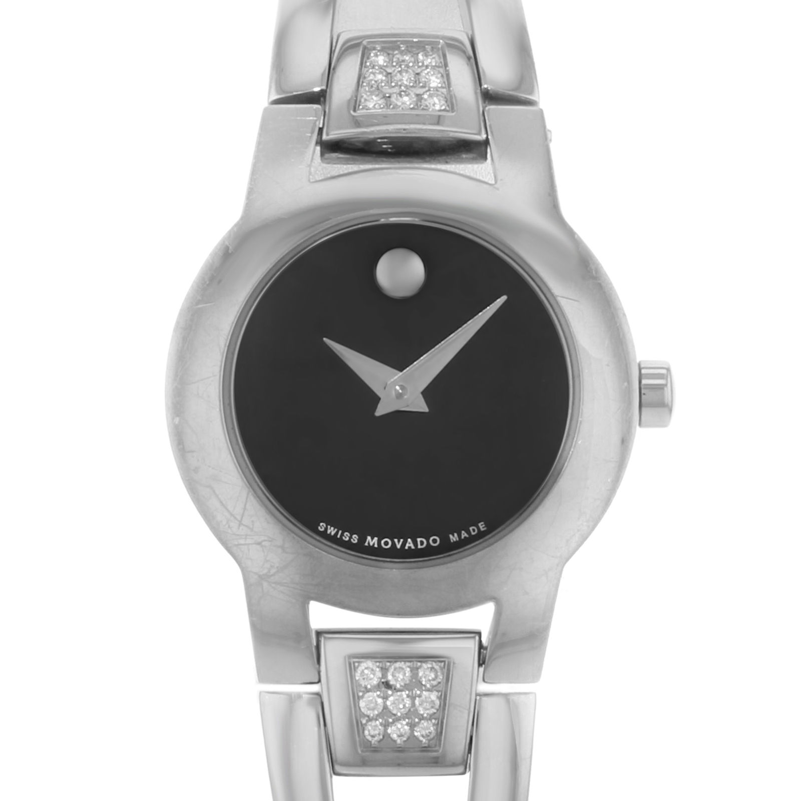 "Image of ""Movado Amorosa 604982 Stainless Steel with Diamond Quartz 24mm Womens"""