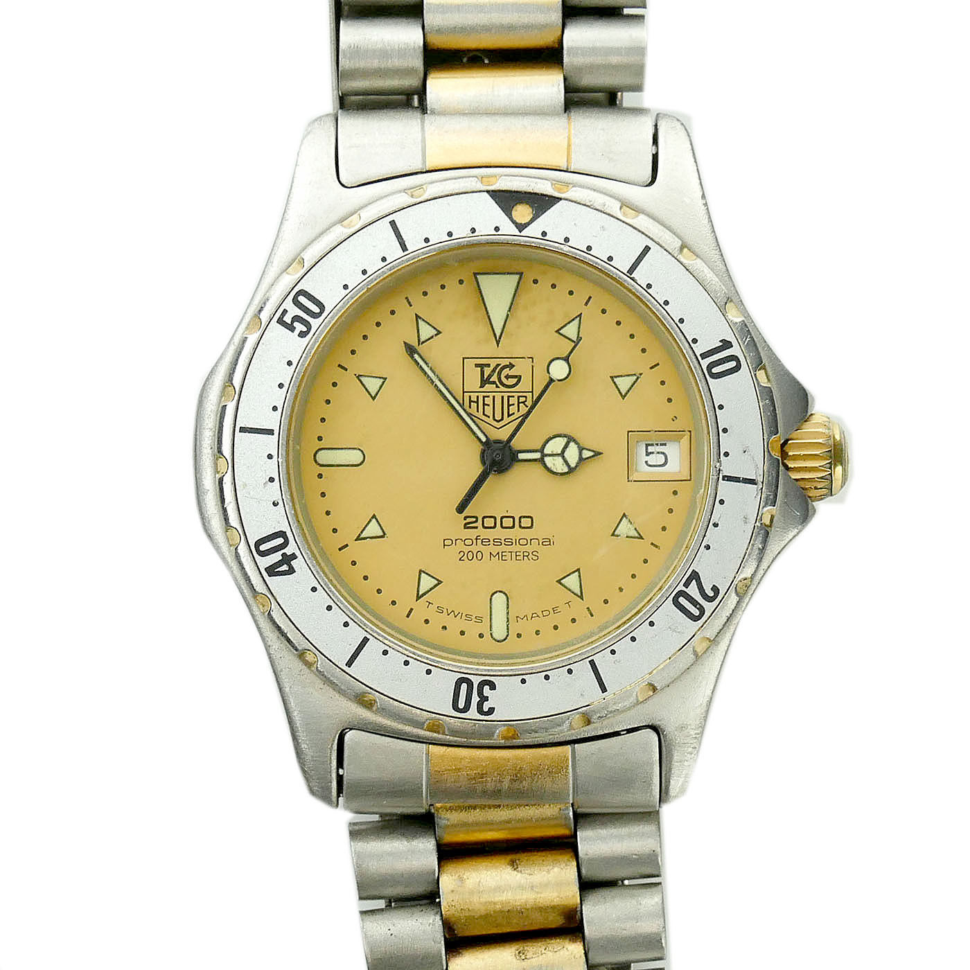 "Image of ""Tag Heuer 2000 Series 974.013 18K Yellow Gold & Stainless Steel Gold"""