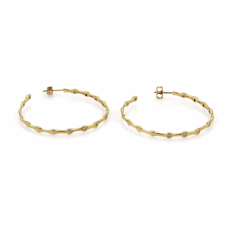 "Image of ""Ippolita 18K Yellow Gold 0.27ct Diamond Starlight Hoop Earrings"""