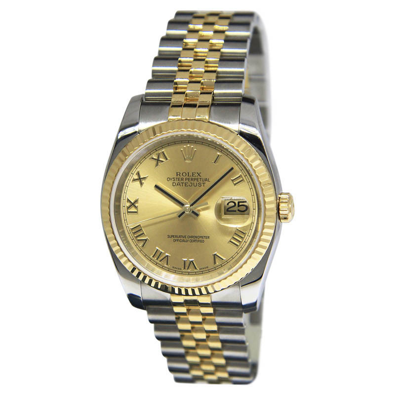 "Image of ""Rolex Datejust 116233 18K Yellow Gold & Stainless Steel Champagne Dial"""