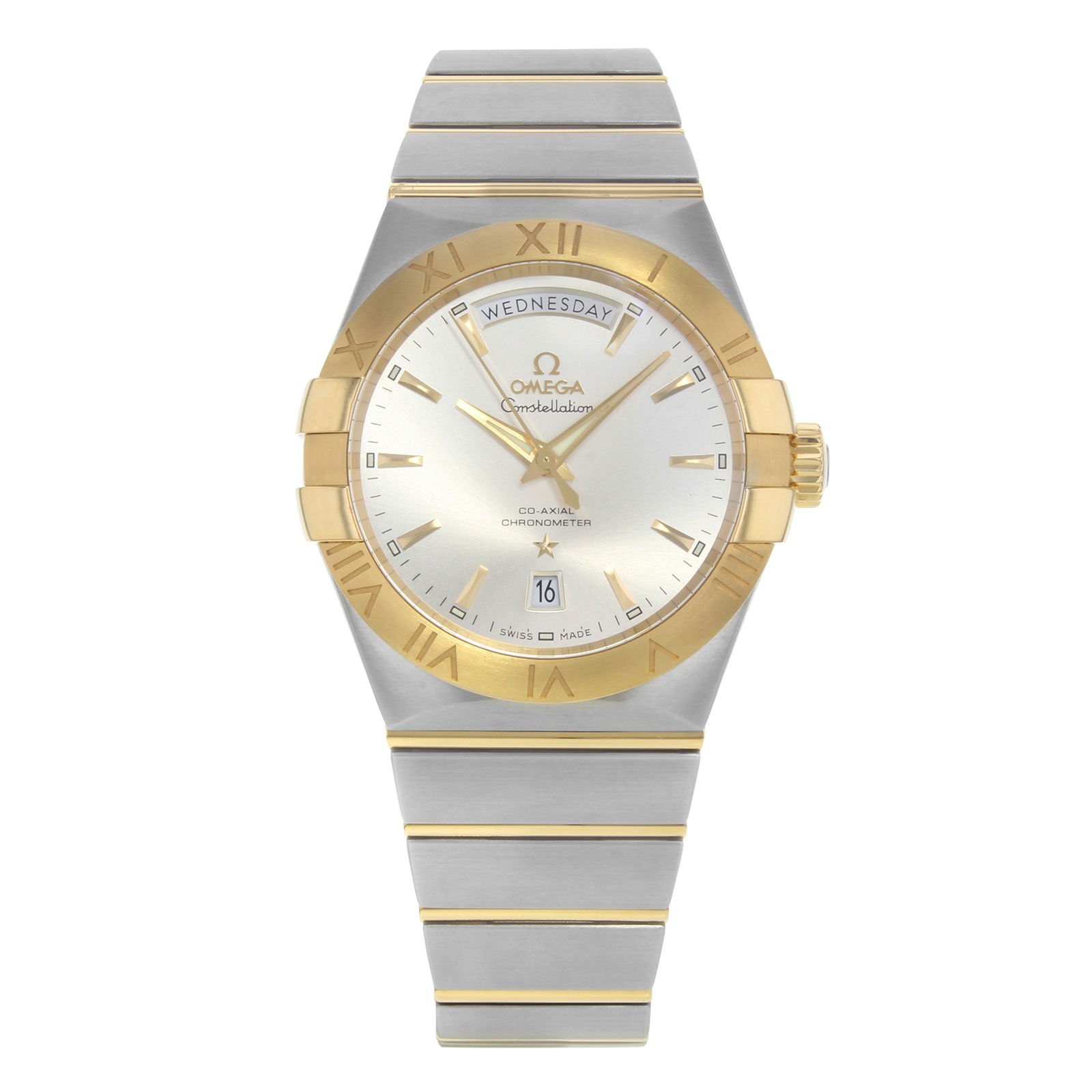 "Image of ""Omega Constellation Day-Date 123.20.38.22.02.002 Stainless Steel & 18K"""