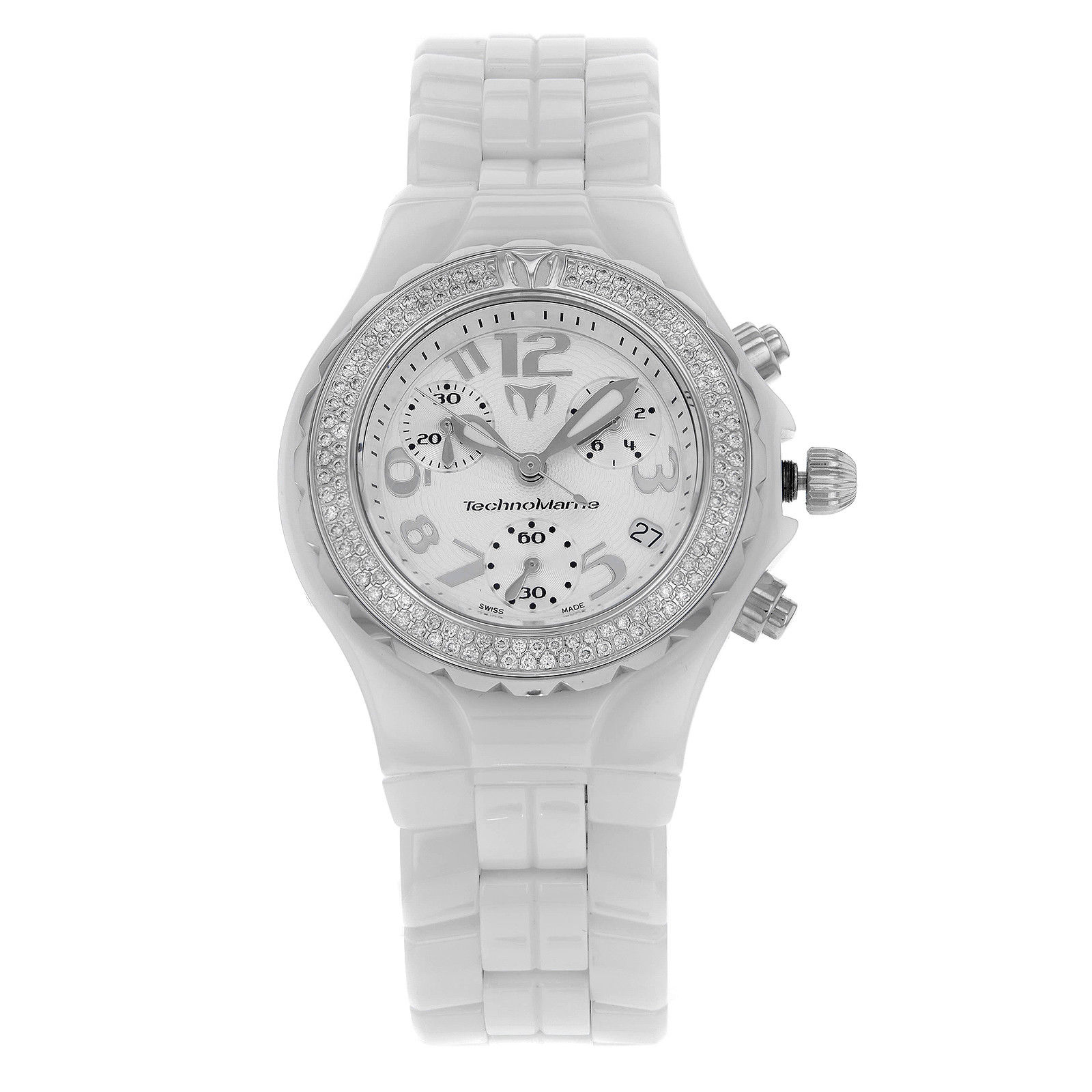 "Image of ""TechnoMarine Chronograph Dtc55C Stainless Steel & Ceramic Diamonds"""