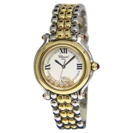 Chopard Happy Sport 27/8237-21 Stainless Steel & 18K Yellow Gold 32mm Womens Watch