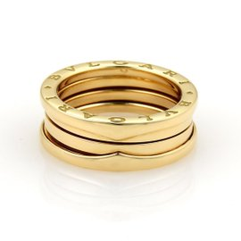 Bulgari B Zero-1 18K Yellow Gold Wide Band Ring Size 6