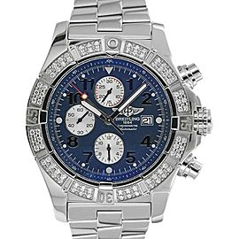 Breitling Super Avenger A13370 Stainless Steel 48mm Mens Watch