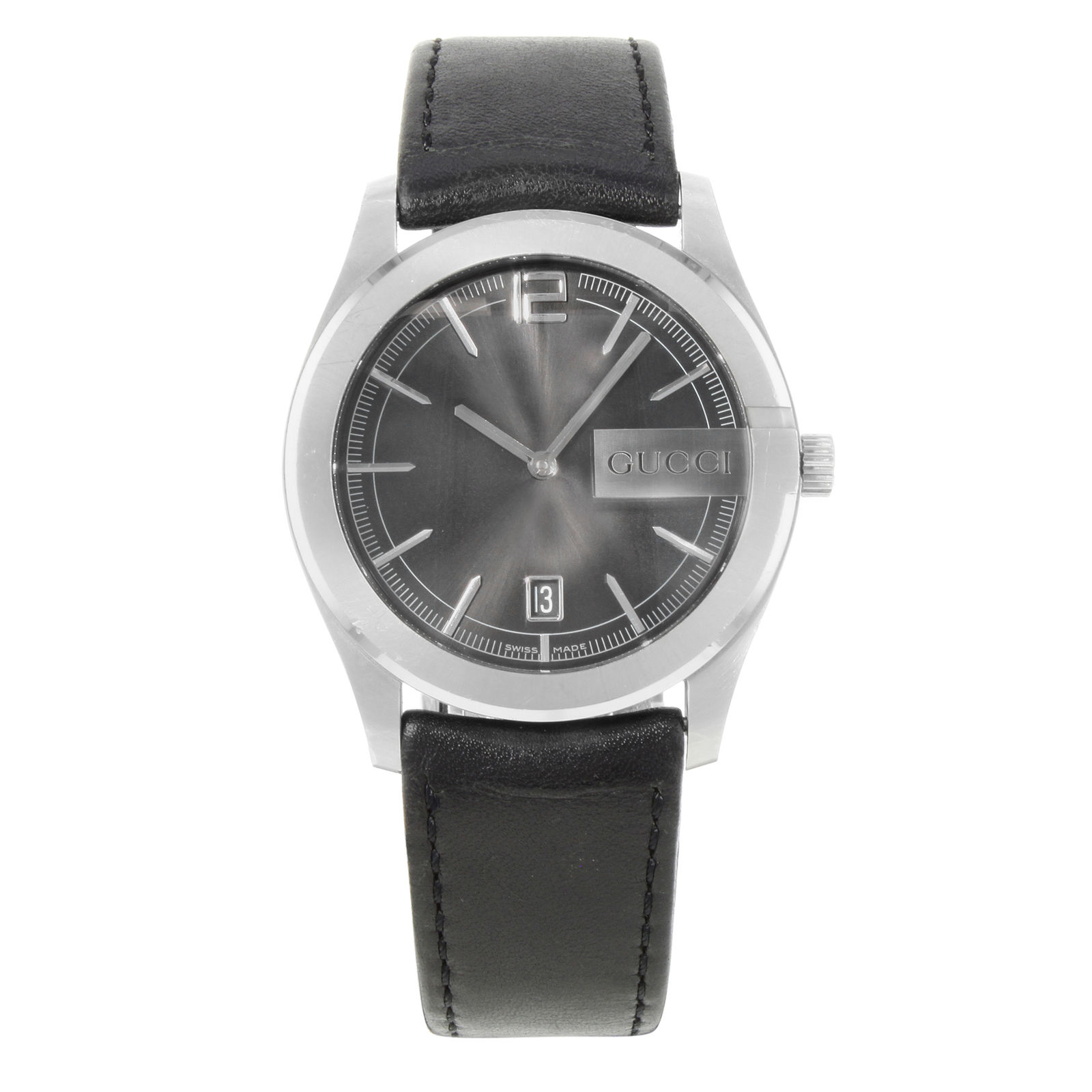 """Image of """"Gucci 5700 Ya057301 Stainless Steel Quartz 40mm Mens Watch"""""""