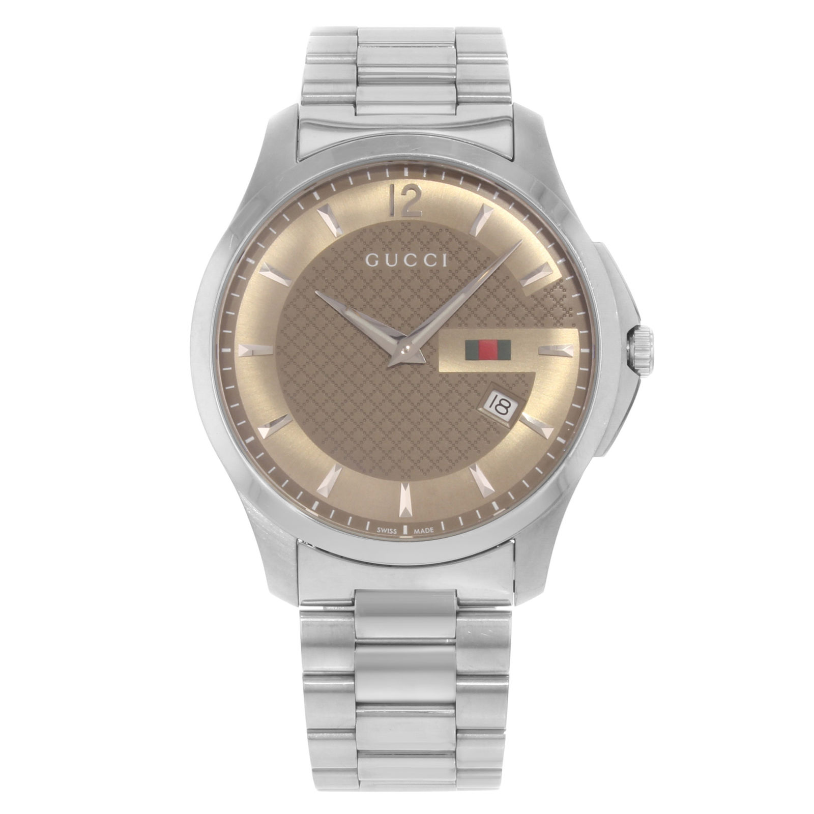 "Image of ""Gucci G-Timeless 126.3 / Ya126310 Stainless Steel Quartz 40mm Mens"""