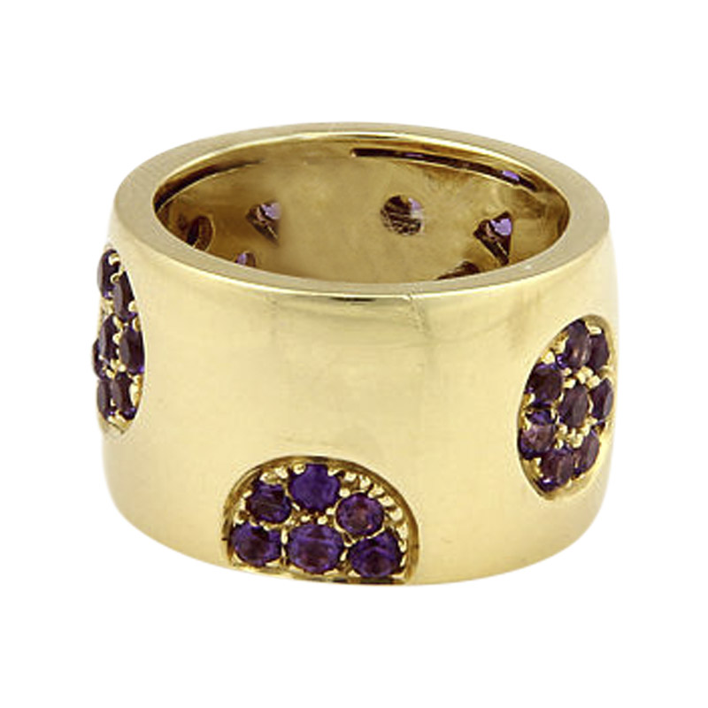 "Image of ""Koesia 18K Yellow Gold with Amethyst Band Ring Size 7"""