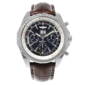 Breitling Bentley A44362 Stainless Steel / Leather Automatic 49mm Mens Watch