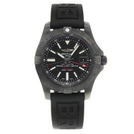 Breitling Avenger II M3239010 / BF04-153S Stainless Steel / Rubber Automatic 44mm Mens Watch