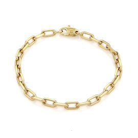 Cartier 18K Yellow Gold Oval Link Chain Bracelet