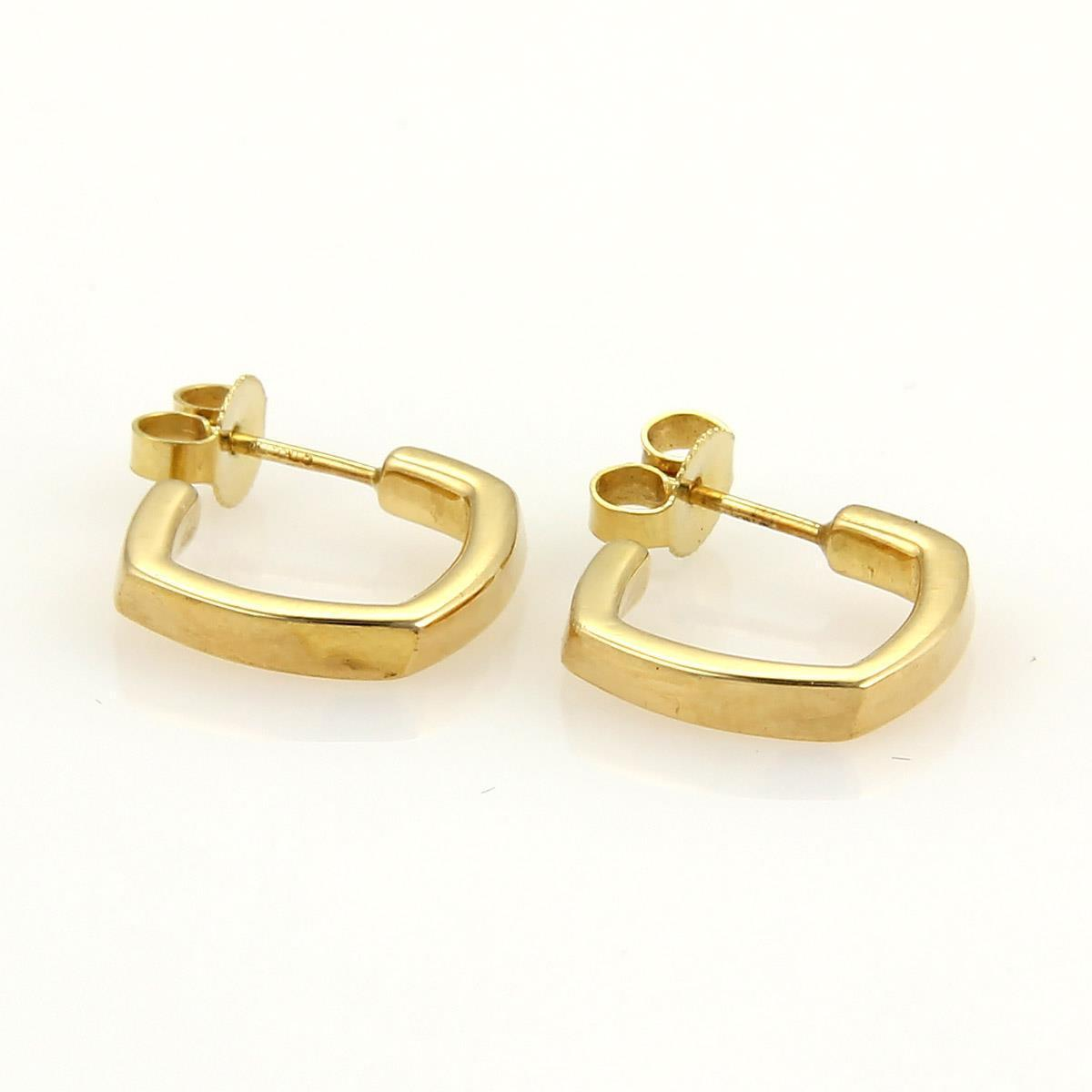 "Image of ""Tiffany & Co. Frank Gehry Torque 18K Yellow Gold Small Hoop Earrings"""