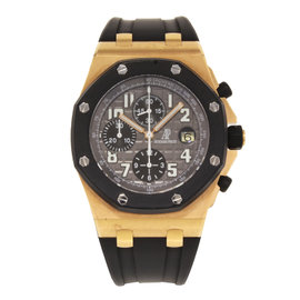 Audemars Piguet Royal Oak 25940OK.OO.D002CA.01.A 18K Rose Gold & Silicon/Rubber Automatic 42mm Mens Watch