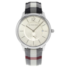 Burberry The Classic BU10002 Stainless Steel & Leather Quartz 40mm Unisex Watch
