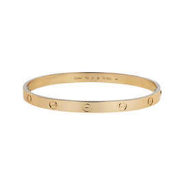 Cartier Love 18K Rose Gold Bangle Bracelet Size 21