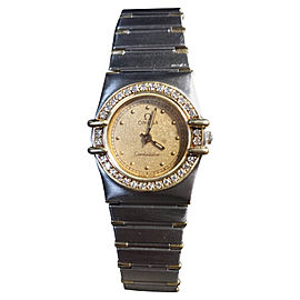 Omega Constellation 18K Gold Diamond Womens Watch