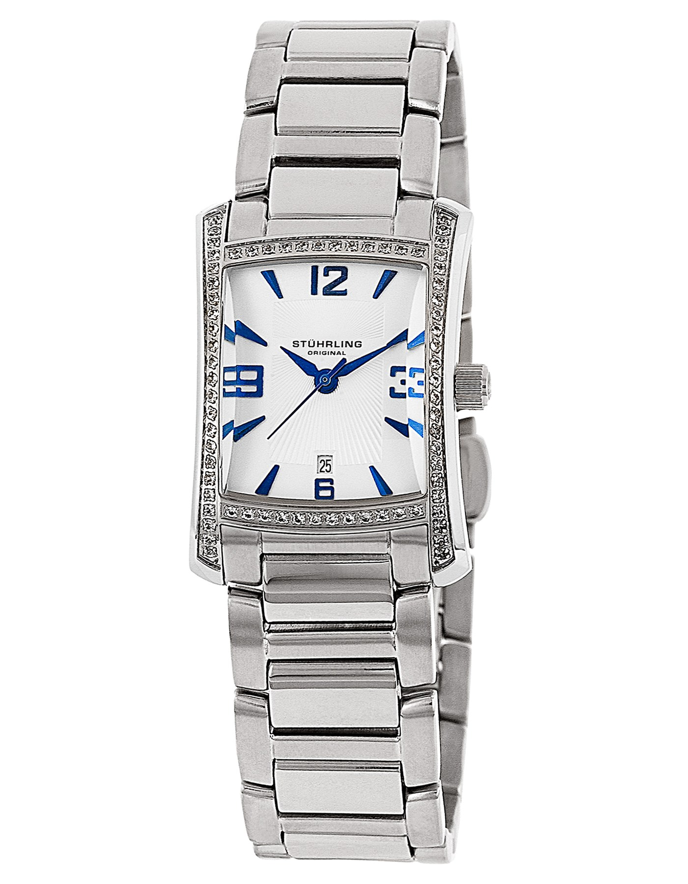 "Image of ""Stuhrling Gatsby High Society II 145Ts.12112 Stainless Steel 23mm x"""