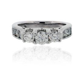 14K White Gold 1.5ct Diamond Engagement Ring Size 7