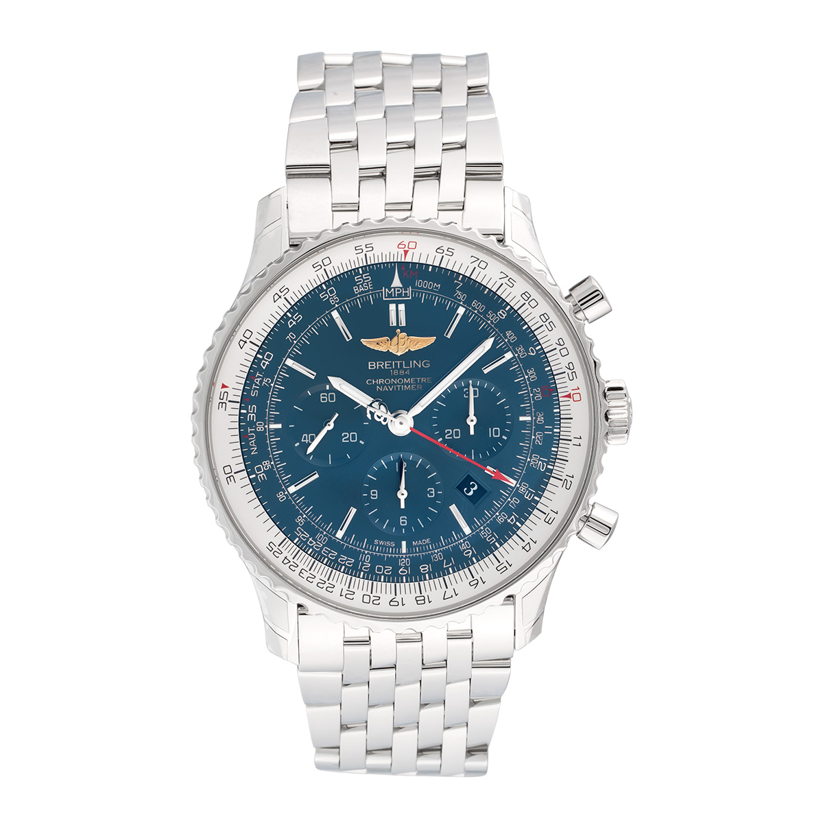 """Image of """"Breitling Navitimer 01 Ab012721.c889.443A Stainless Steel & Blue Dial"""""""
