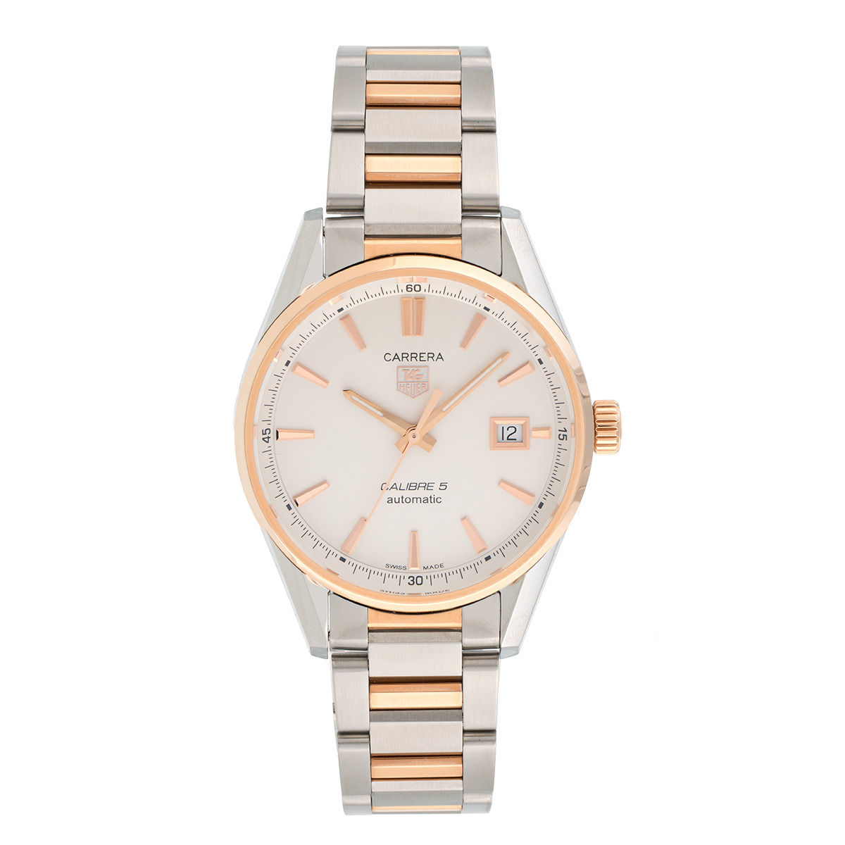 "Image of ""Tag Heuer Carrera War215D.bd0784 Stainless Steel & 18K Rose Gold 39mm"""